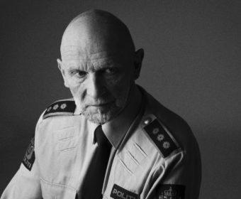 Intervju og foto med lensmann Terje Pedersen