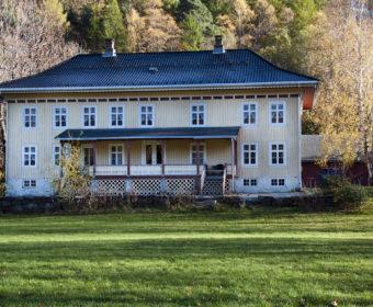 Foto på Vikeland hovedgård i Vennesla